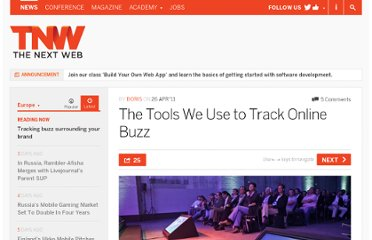 http://thenextweb.com/eu/2011/04/26/the-tools-we-use-to-track-online-buzz/