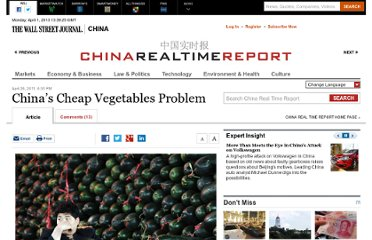 http://blogs.wsj.com/chinarealtime/2011/04/26/inflation-chinas-cheap-vegetables-problem/