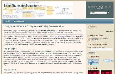 http://leedumond.com/blog/using-a-guid-as-an-entitykey-in-entity-framework-4/