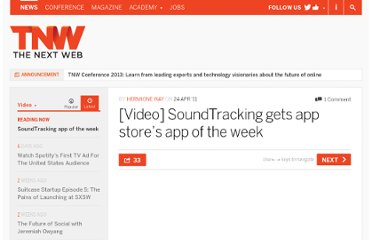 http://thenextweb.com/video/2011/04/24/video-soundtracking-gets-app-stores-app-of-the-week/