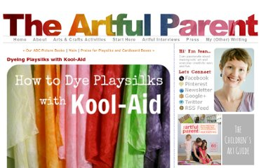 http://artfulparent.typepad.com/artfulparent/2008/03/dyeing-playsilks-with-kool-aid.html