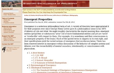 http://plato.stanford.edu/entries/properties-emergent/