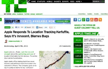 http://techcrunch.com/2011/04/27/apple-finally-responds-to-location-data-tracking-kerfuffle/