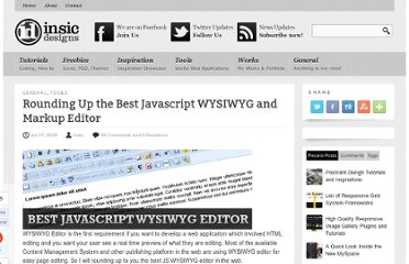 http://blog.insicdesigns.com/2009/07/rounding-up-the-best-javascript-wysiwyg-and-markup-editor/