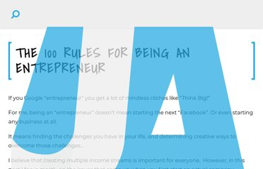 http://www.jamesaltucher.com/2011/04/the-100-rules-for-being-an-entrepreneur/