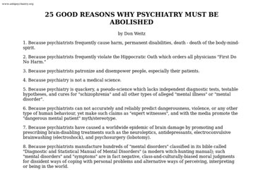 http://www.antipsychiatry.org/25reason.htm