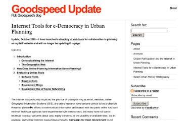 http://goodspeedupdate.com/e-democracy-in-urban-planning