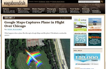 http://www.vagabondish.com/google-maps-plane-in-flight-chicago/