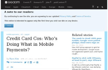 http://gigaom.com/2011/04/27/credit-card-cos-whos-doing-what-in-mobile-payments/