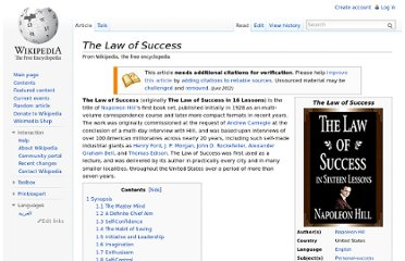 http://en.wikipedia.org/wiki/The_Law_of_Success