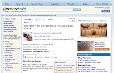 http://www.emedicinehealth.com/disorders_that_disrupt_sleep_parasomnias/page2_em.htm