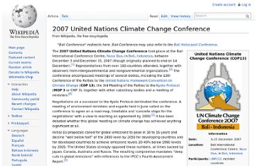 http://en.wikipedia.org/wiki/2007_United_Nations_Climate_Change_Conference