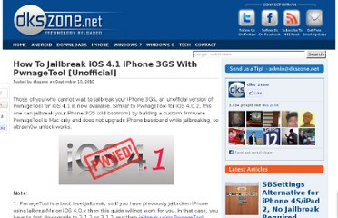 http://www.dkszone.net/jailbreak-ios-41-iphone-3gs-pwnagetool-unofficial