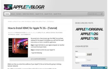 http://appletvblogr.com/2011/01/how-to-install-xbmc-for-apple-tv-2g-tutorial/