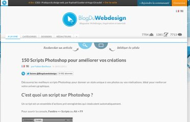 http://www.blogduwebdesign.com/ressources/150-scripts-photoshop-pour-ameliorer-vos-creations/217