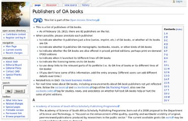 http://oad.simmons.edu/oadwiki/Publishers_of_OA_books