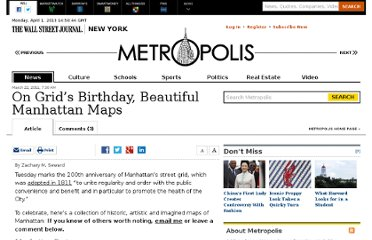 http://blogs.wsj.com/metropolis/2011/03/22/on-grids-birthday-beautiful-manhattan-maps/