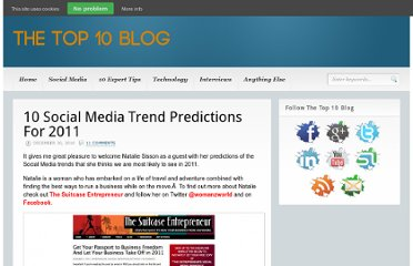 http://www.thetop10blog.com/10-social-media-trend-predictions-for-2011/