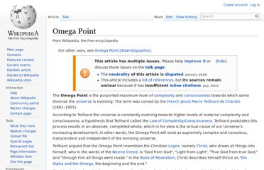 http://en.wikipedia.org/wiki/Omega_Point