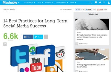 http://mashable.com/2011/04/28/14-best-practices-for-long-term-social-media-success/