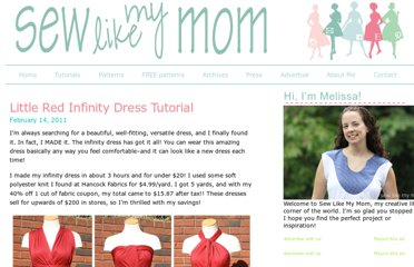 http://sewlikemymom.com/little-red-infinity-dress-tutorial/