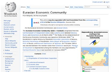 http://en.wikipedia.org/wiki/Eurasian_Economic_Community