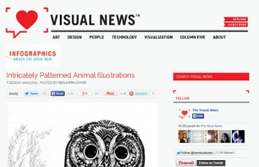 http://www.visualnews.com/2011/04/05/intricately-patterned-animal-illustrations/