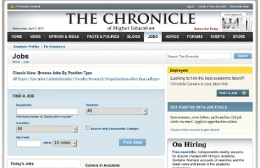 http://chronicle.com/section/Jobs/61/