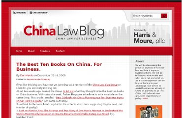 http://www.chinalawblog.com/2009/12/the_best_ten_books_on_china_fo.html