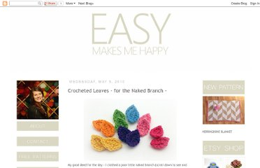 http://easymakesmehappy.blogspot.com/2010/05/crocheted-leaves-for-naked-branch.html