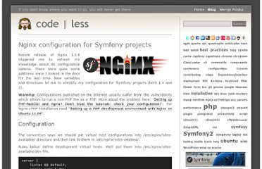 http://www.zalas.eu/nginx-configuration-for-symfony-projects