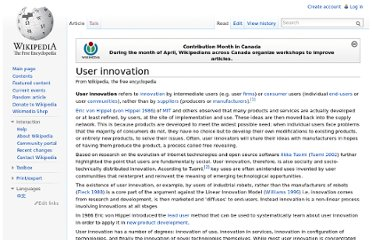 http://en.wikipedia.org/wiki/User_innovation