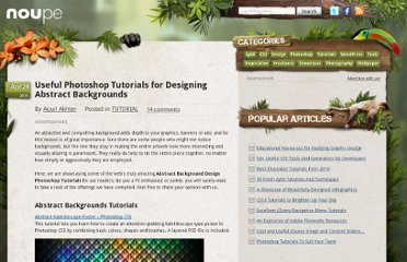 http://www.noupe.com/tutorial/50-useful-photoshop-tutorials-for-designing-abstract-backgrounds-2.html