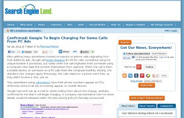 http://searchengineland.com/google-begins-charging-for-some-calls-from-pc-ads-74935