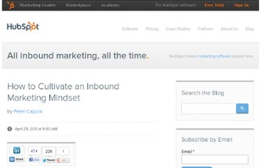 http://blog.hubspot.com/blog/tabid/6307/bid/12718/How-to-Cultivate-an-Inbound-Marketing-Mindset.aspx