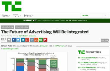 http://techcrunch.com/2011/04/29/the-future-of-advertising-will-be-integrated/