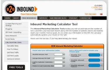 http://www.b2binbound.com/inbound-marketing-calculator-tool/