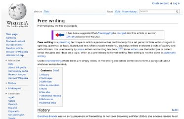 http://en.wikipedia.org/wiki/Free_writing
