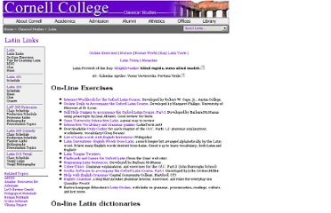 http://www.cornellcollege.edu/classical_studies/latin/latin-links.shtml#texts