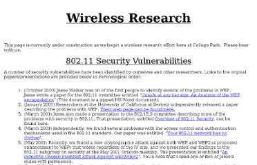 http://www.cs.umd.edu/~waa/wireless.html