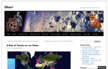http://gharrhome.wordpress.com/2011/02/27/a-map-of-tweets-on-our-globe/