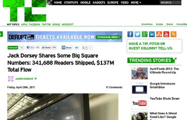 http://techcrunch.com/2011/04/29/jack-dorsey-shares-some-big-square-numbers-341688-readers-shipped-137m-total-flow/