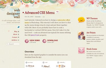 http://webdesignerwall.com/tutorials/advanced-css-menu