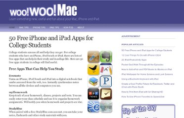 http://www.woowoomac.com/blog/50-free-iphone-and-ipad-apps-for-college-students.html