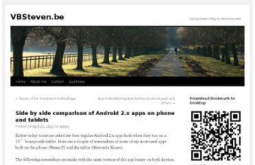 http://www.vbsteven.be/blog/side-by-side-comparison-of-android-2-x-apps-on-phone-and-tablets/