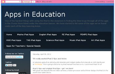 http://appsineducation.blogspot.com/2011/04/50-really-useful-ipad-2-tips-and-tricks.html