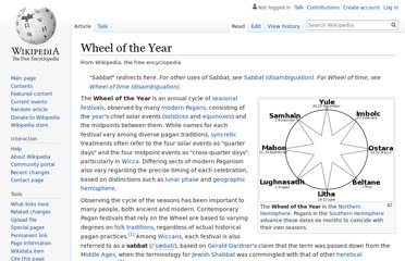 http://en.wikipedia.org/wiki/Wheel_of_the_Year