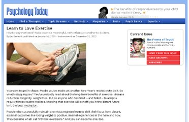 http://www.psychologytoday.com/articles/200001/learn-love-exercise
