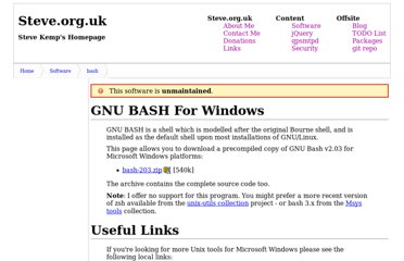 http://www.steve.org.uk/Software/bash/