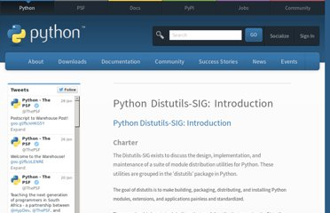 http://www.python.org/community/sigs/current/distutils-sig/